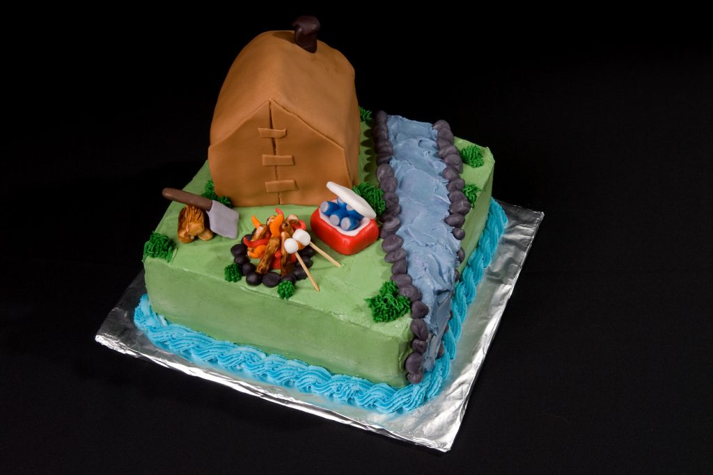 great outdoors themed cake