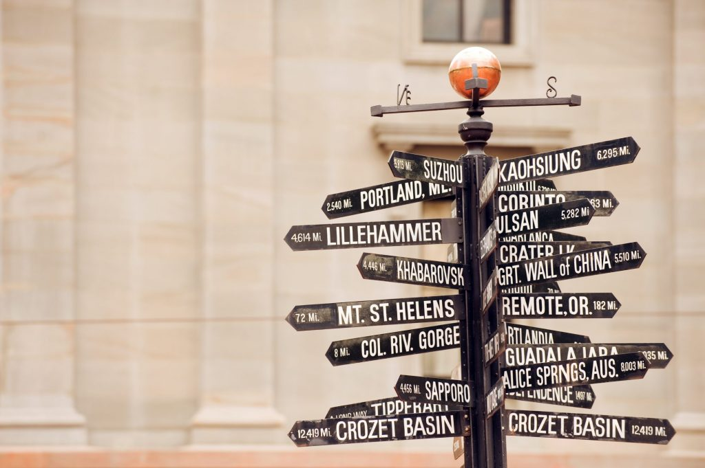 travel related signs