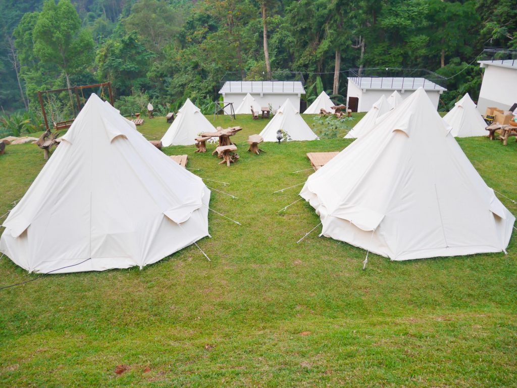 tents at campground
