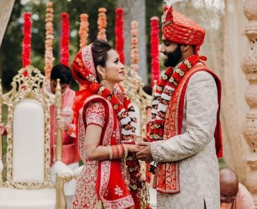 Indian wedding couple at Indian ceremony