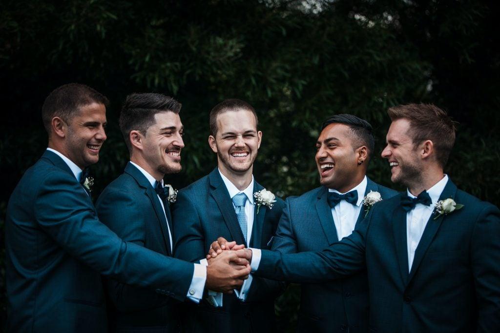 groomsmen wearing boutonnieres