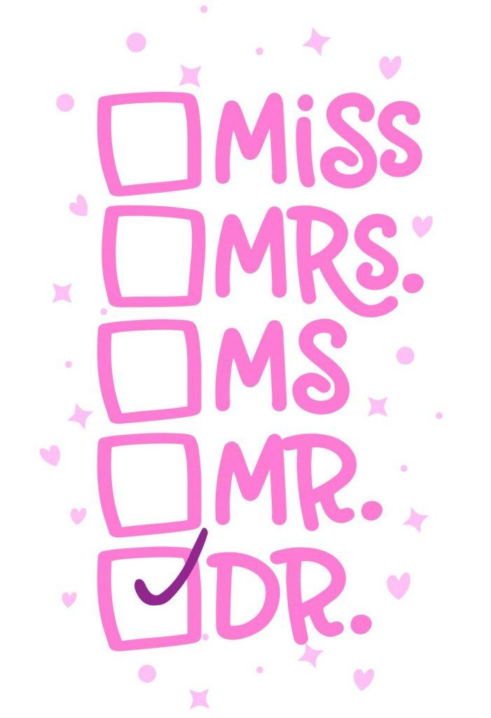 miss, mrs, ms, mr, dr titles