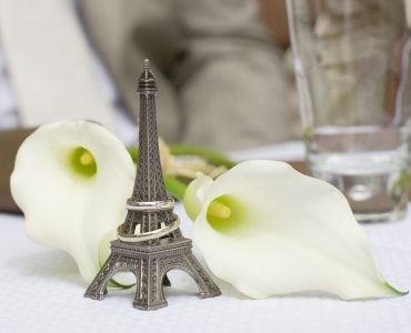 Paris themed wedding