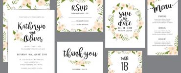 wedding stationery templates
