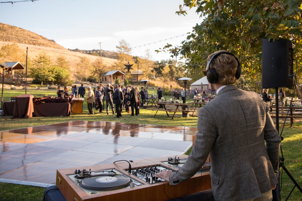 wedding dj outdoors