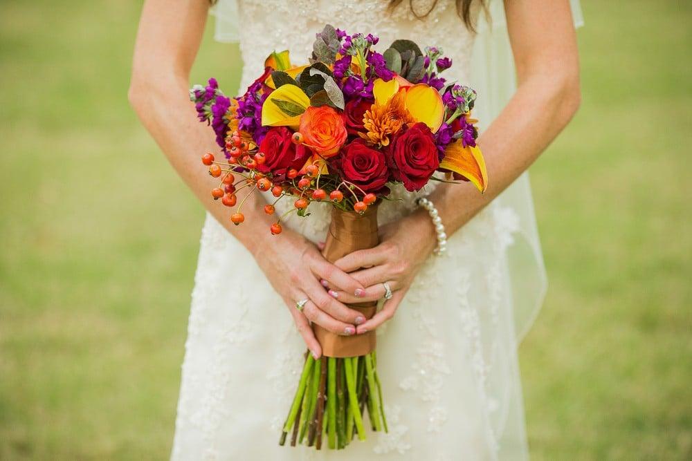 fall wedding flower bouquet