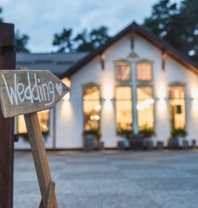 wedding sign at venue