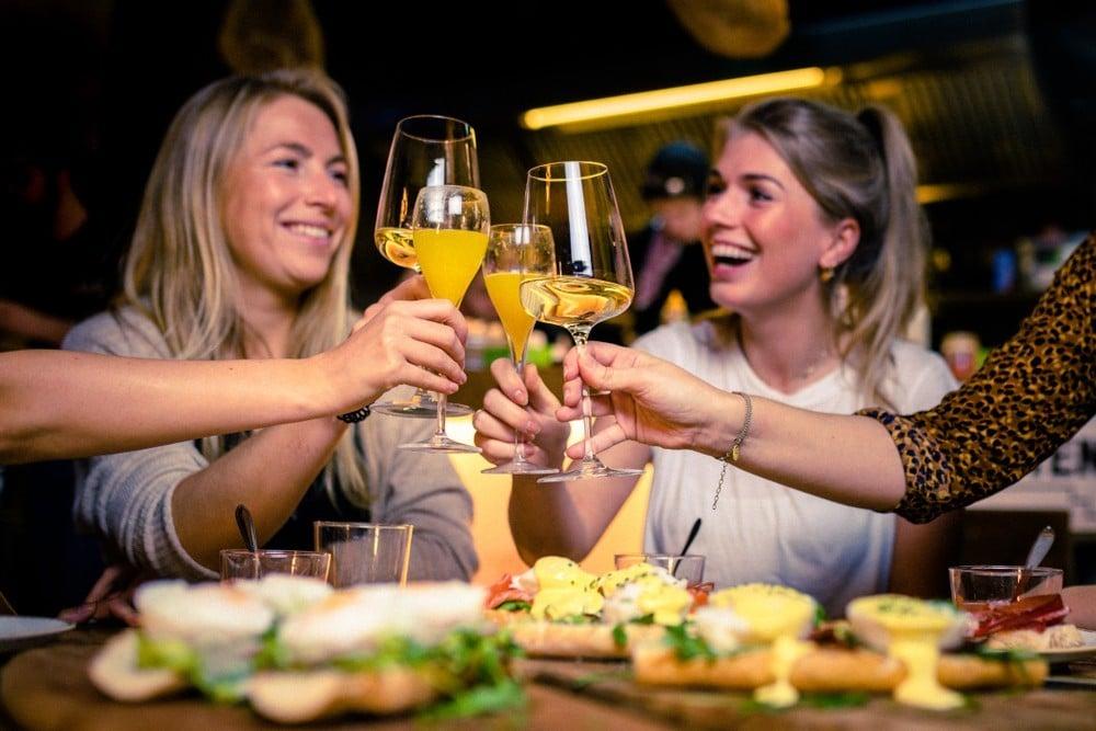 women at brunch