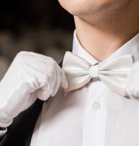 white tie white gloves attire