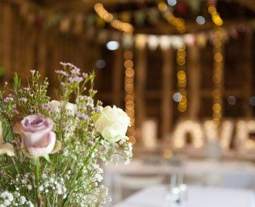 flowers in wedding venue