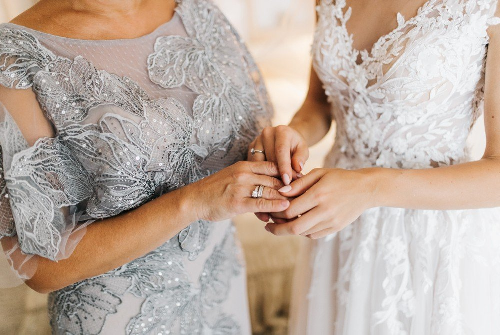 mother of the bride dress with bride