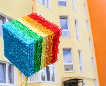 rainbow wedding pinata